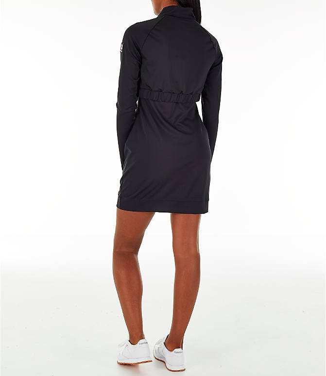Back Left view of Women's Reebok Classics Advanced Mock Dress in Black