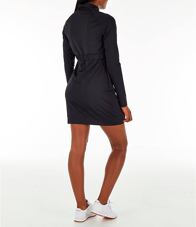 Back Right view of Women's Reebok Classics Advanced Mock Dress in Black