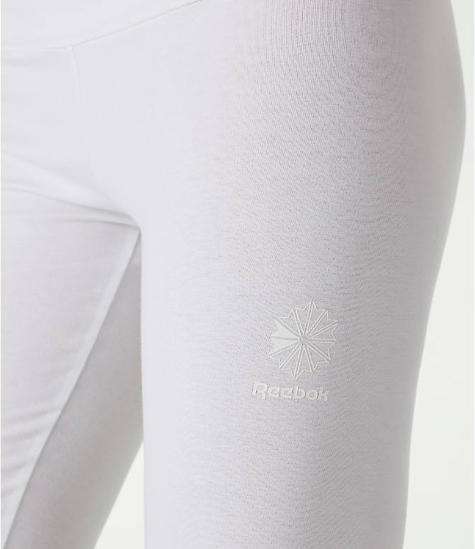 Detail 2 view of Women's Reebok Classics International Graphic Leggings in White/Black