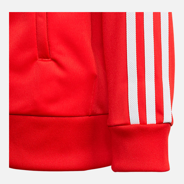 Back view of Boys' adidas Originals Trefoil Track Jacket in College Red