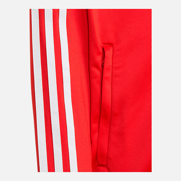 Alternate view of Boys' adidas Originals Trefoil Track Jacket in College Red