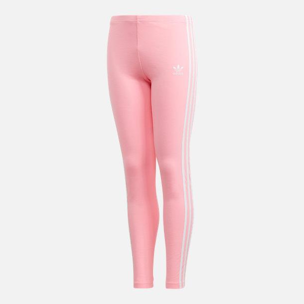 168da82d6b8 Front view of Girls  adidas Originals 3-Stripe Leggings in Ash Pink