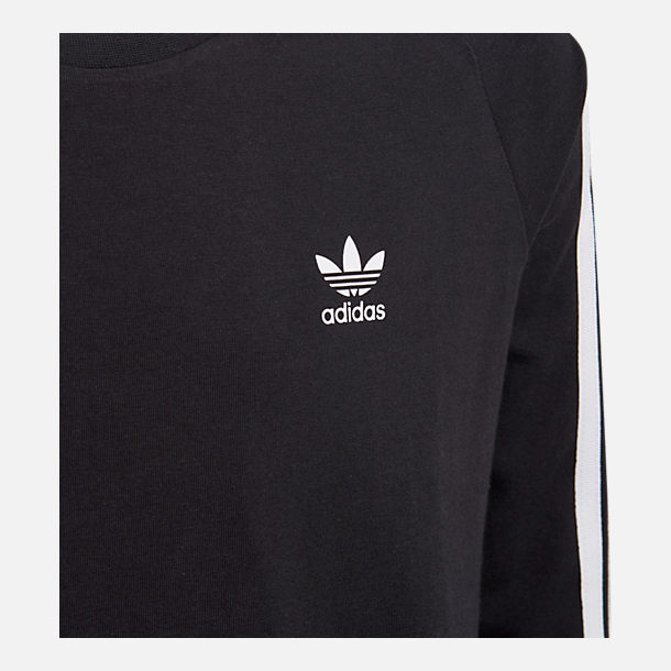Back view of Girls' adidas Originals 3-Stripes Dress in Black/White