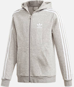 Kids' adidas Originals Grey Full-Zip Hoodie