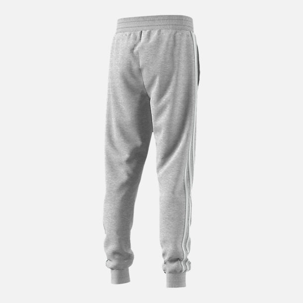 Back view of Boys' adidas Originals Trefoil Jogger Pants in Grey/White