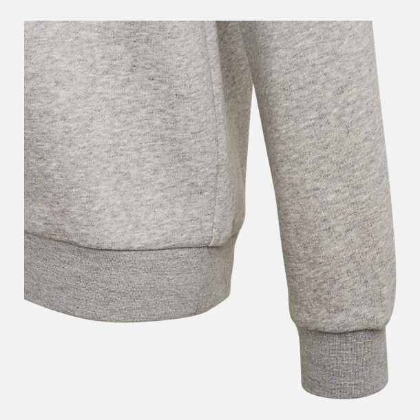 Alternate view of Kids' adidas Originals Trefoil Crew Sweatshirt in Grey/White