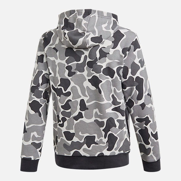 Alternate view of Boys' adidas Camo Trefoil Hoodie in Black/White