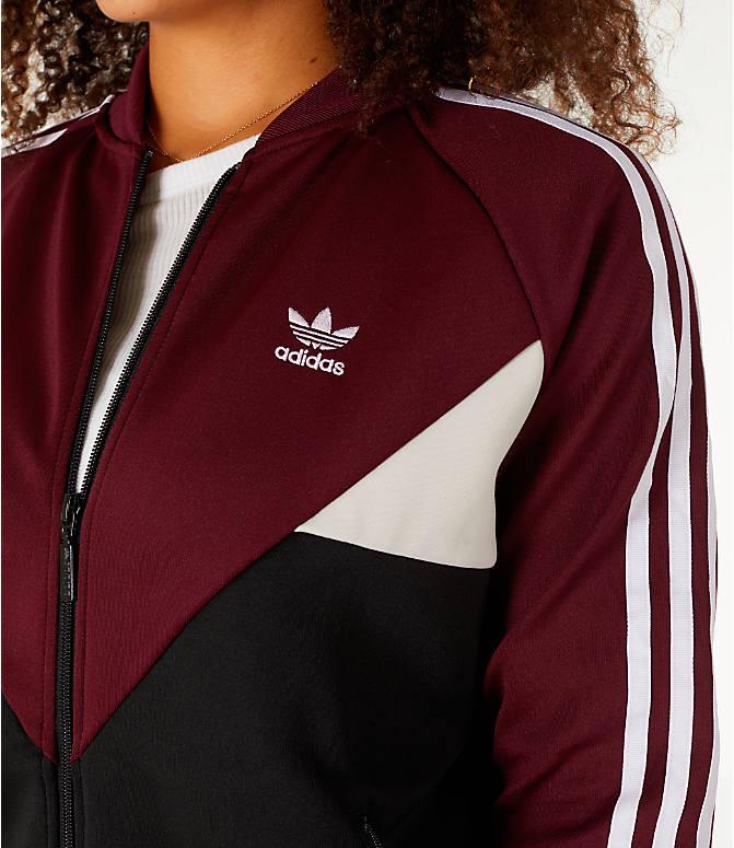 Detail 1 view of Women s adidas Originals Colorado SST Track Jacket in  Maroon 85378b506