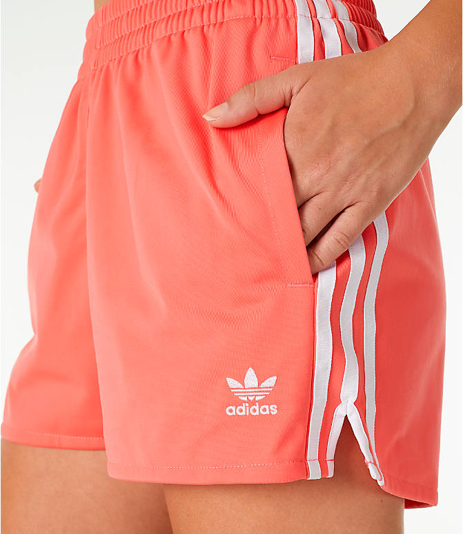 Detail 1 view of Women's adidas Originals 3-Stripes Shorts in Core Pink