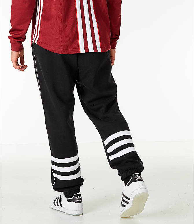 Front view of Men's adidas Originals Authentic Fleece Jogger Pants in Black