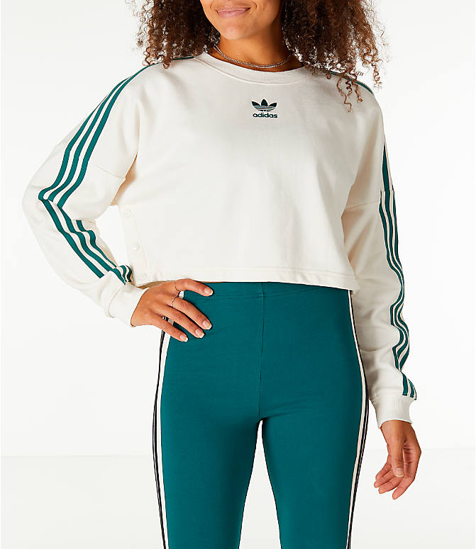 Women S Adidas Originals Adibreak Cropped Sweatshirt Finish Line