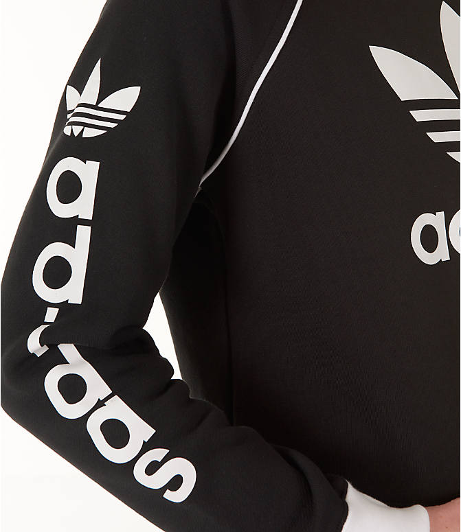 Detail 1 view of Women's adidas Originals Winter Ease Crew Sweatshirt in Black/White