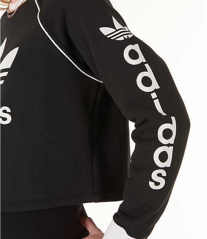 Detail 2 view of Women's adidas Originals Winter Ease Crew Sweatshirt in Black/White