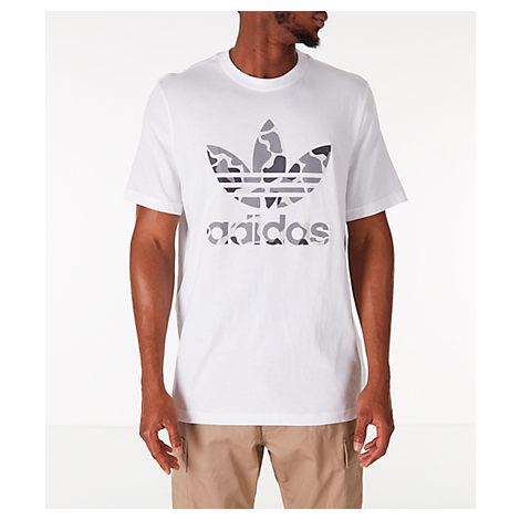 adidas Originals Men's Crew Neck Trefoil T Shirt White