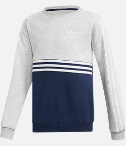 Boys' adidas Authentics Colorblock Crewneck Sweatshirt