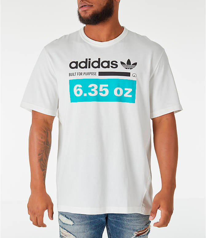 Front view of Men's adidas Originals Kaval T-Shirt in White