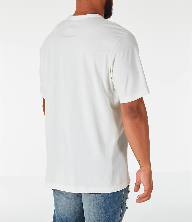 Back Right view of Men's adidas Originals Kaval T-Shirt in White