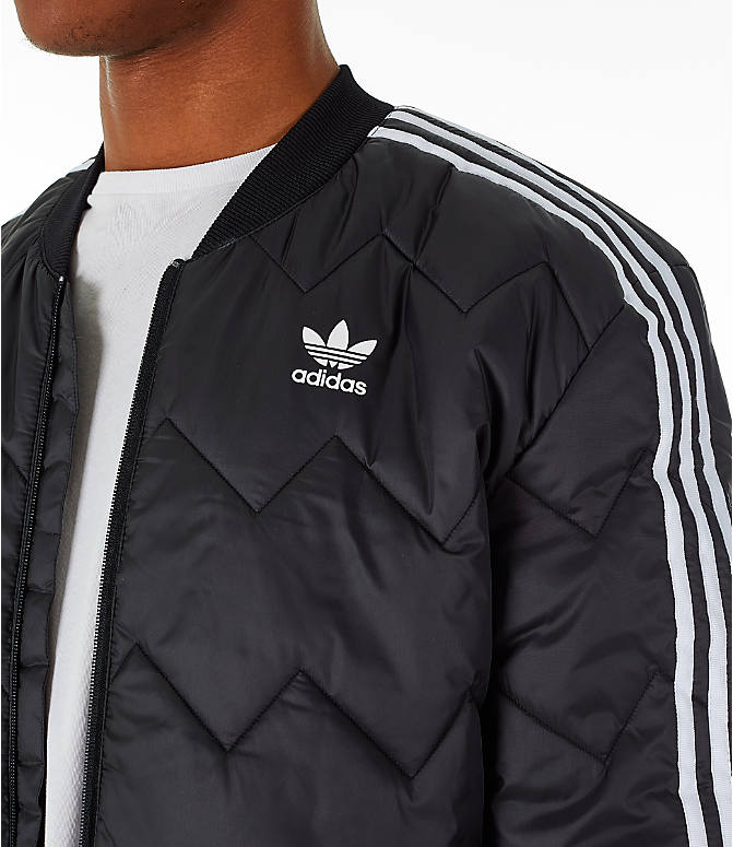 Detail 1 view of Men's adidas Originals SST Quilted Jacket in Black