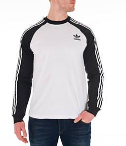 Men's adidas Originals 3-Stripes Long-Sleeve T-Shirt