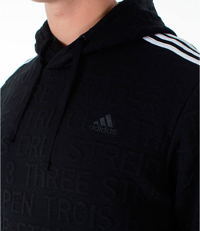 Detail 1 view of Men's adidas Essentials Pullover Hoodie in Black