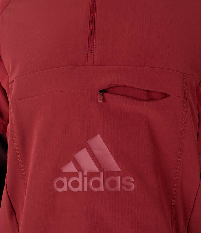 Detail 1 view of Men's adidas Athletics ID Woven Anorak Shell Wind Jacket in Noble Maroon