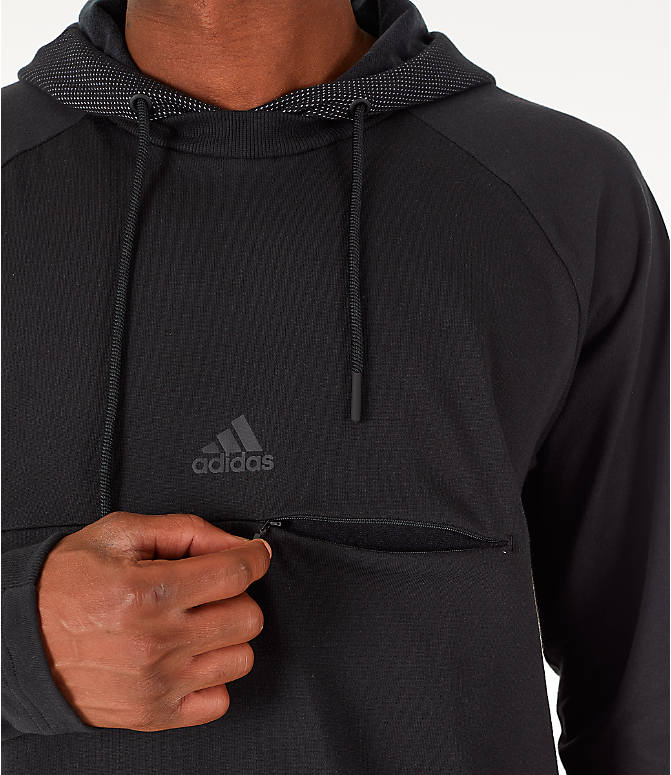 Detail 1 view of Men's adidas Sport 2 Street Lifestyle Pullover Hoodie in Black