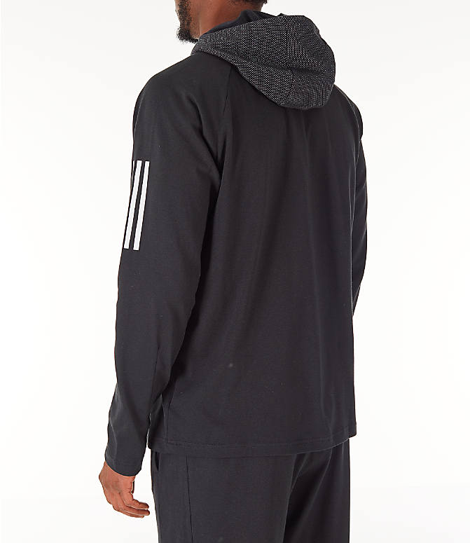 Back Left view of Men's adidas Sport 2 Street Lifestyle Pullover Hoodie in Black