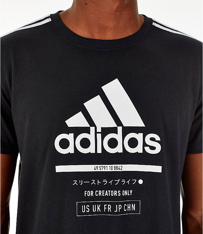 Detail 1 view of Men's adidas Classic International T-Shirt in Black