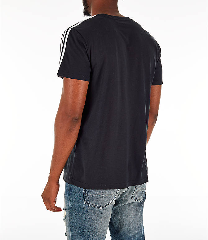 Back Left view of Men's adidas Classic International T-Shirt in Black