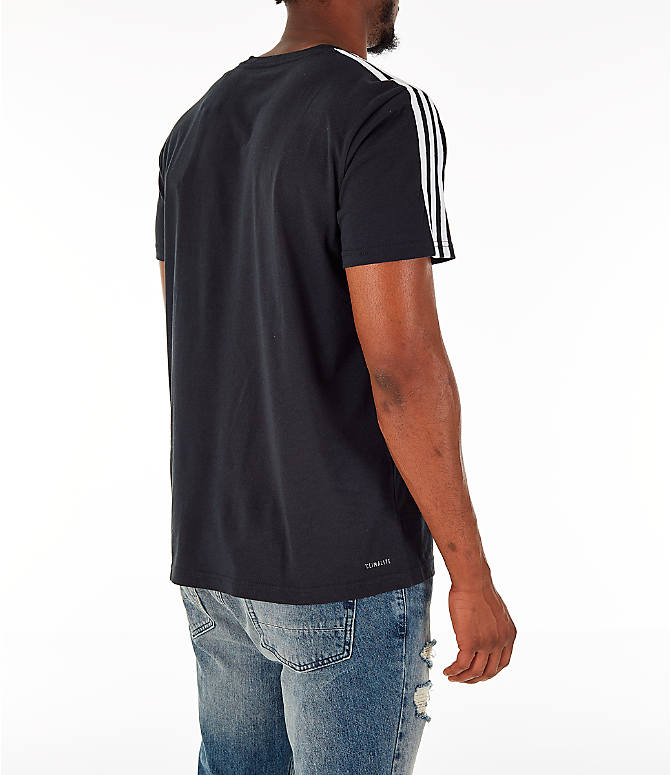 Back Right view of Men's adidas Classic International T-Shirt in Black