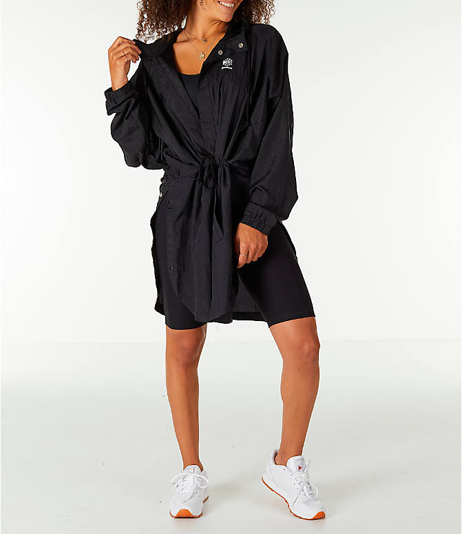 Detail 1 view of Unisex Reebok Classics Poncho Jacket in Black