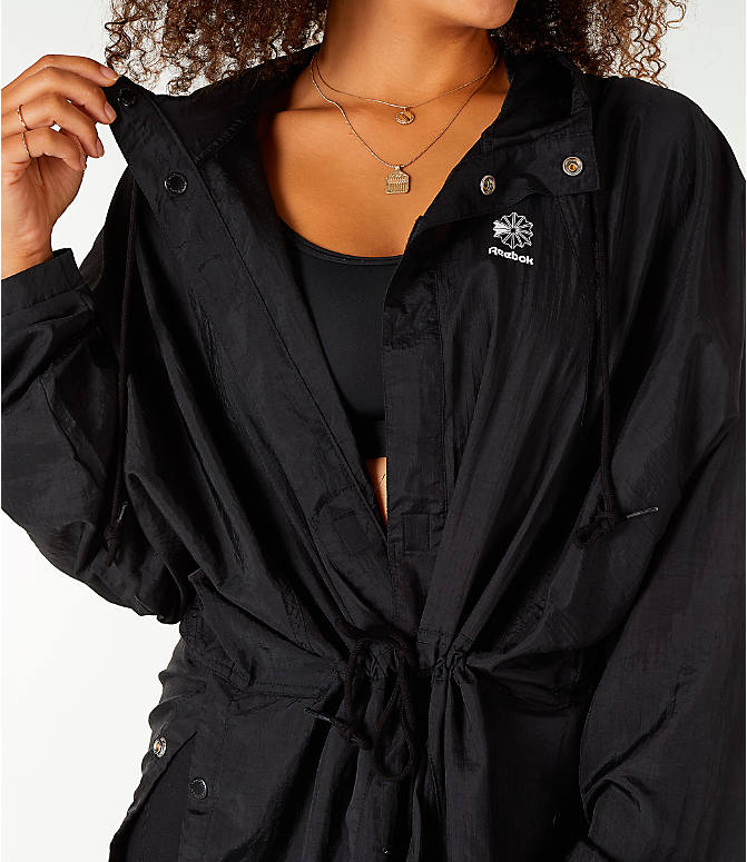 Detail 2 view of Unisex Reebok Classics Poncho Jacket in Black