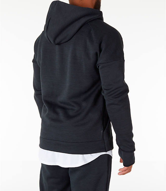 Back Right view of Men's adidas Z.N.E. Fast Release Full-Zip Hoodie in Black