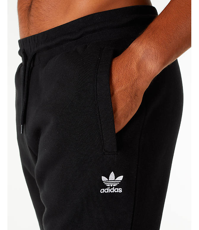 Detail 1 view of Men's adidas Originals adicolor Cuffed Jogger Pants in Black