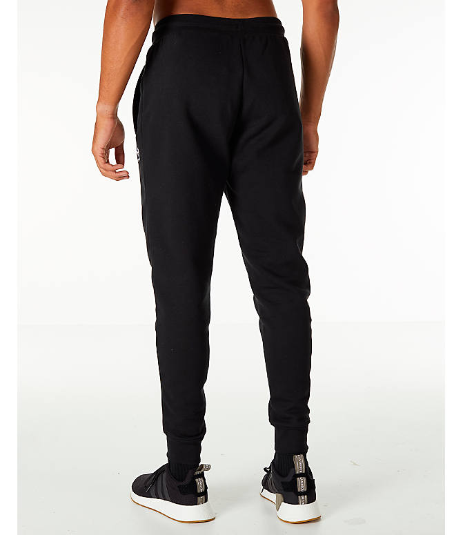 Back Left view of Men's adidas Originals adicolor Cuffed Jogger Pants in Black