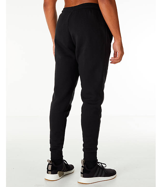 Back Right view of Men's adidas Originals adicolor Cuffed Jogger Pants in Black
