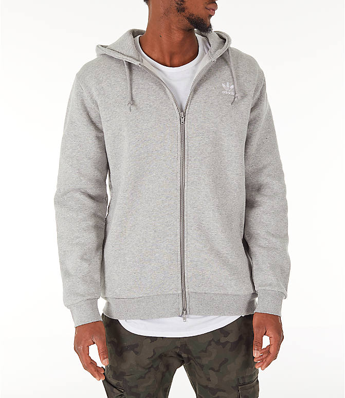 Front view of Men's adidas Originals adicolor Full-Zip Hoodie