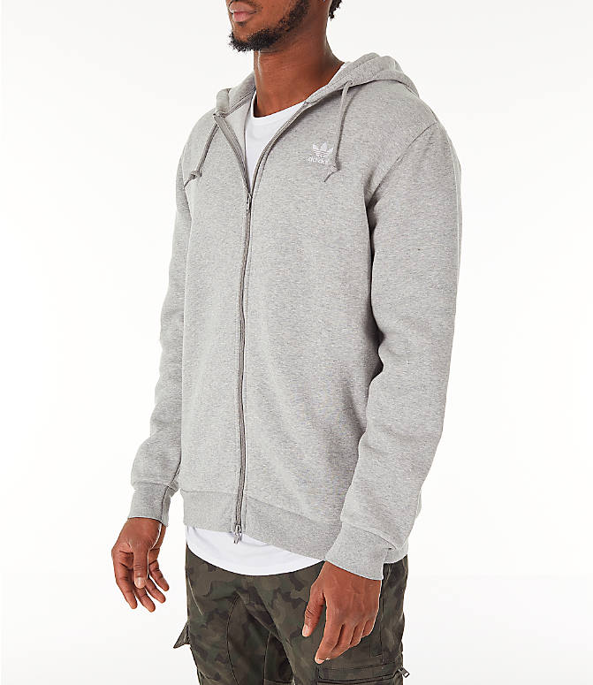Front Three Quarter view of Men's adidas Originals adicolor Full-Zip Hoodie