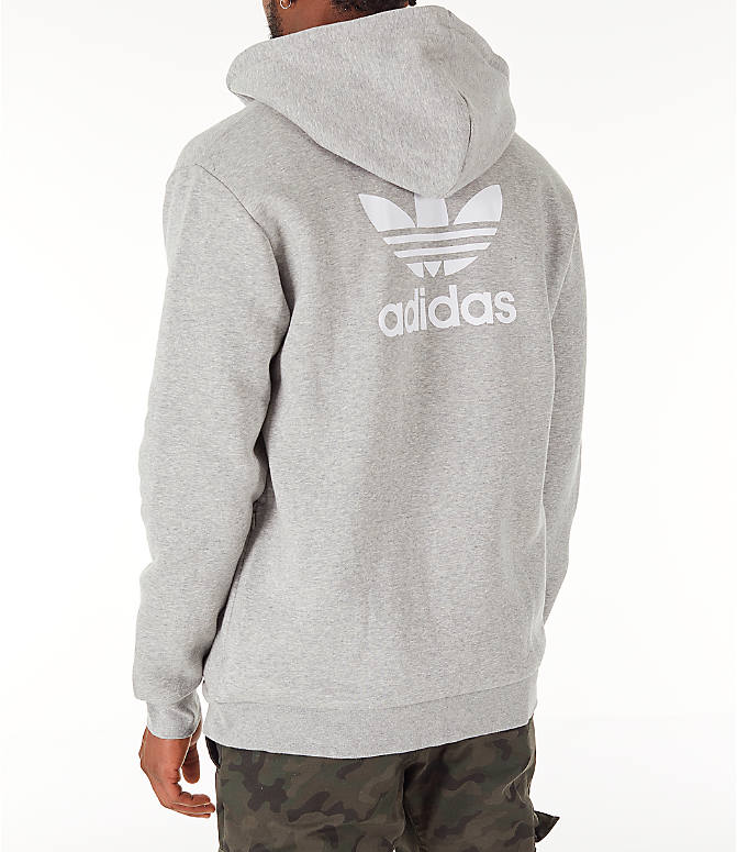 Back Left view of Men's adidas Originals adicolor Full-Zip Hoodie