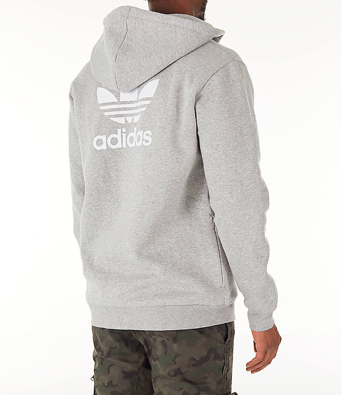 Back Right view of Men's adidas Originals adicolor Full-Zip Hoodie