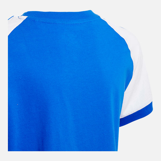Back view of Kids' adidas Originals Cali T-Shirt in Blue/White
