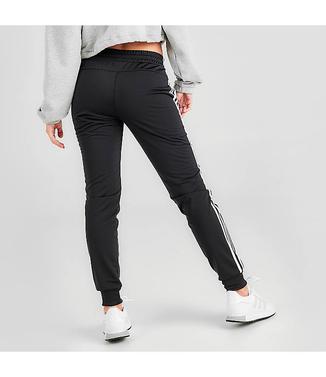 Back Right view of Women's adidas Designed 2 Move Jogger Pants in Black/White