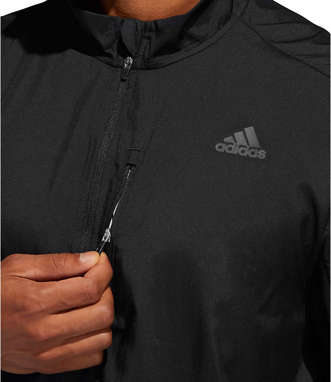 Detail 1 view of Men's adidas Own The Run Training Jacket in Black