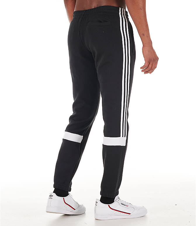 Back Right view of Men's adidas Originals Itasca Fleece Jogger Pants in Black