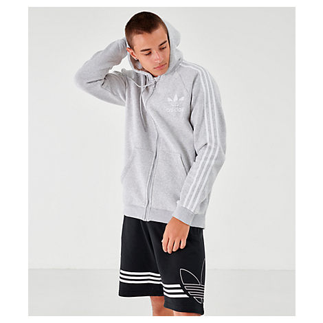 Adidas Originals Adidas Men's Originals Adi Cali Full-Zip Hoodie In Grey