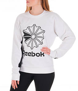 Women's Reebok Classics French Terry Big Logo Crew Sweatshirt
