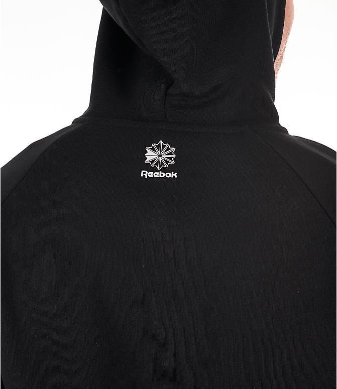 Detail 2 view of Men's Reebok Classics Graphic Half-Zip Hoodie in Black