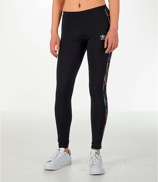 Front Three Quarter view of Women's adidas Originals Graphic Leggings