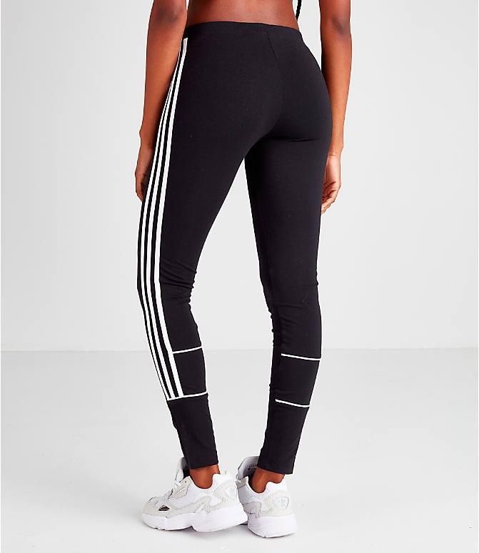 90ac103edcd99 Back Left view of Women's adidas Originals 3-Stripes Leggings in Black