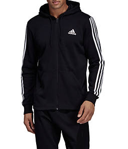 Men's adidas Must Haves 3-Stripe French Terry Full-Zip Hoodie